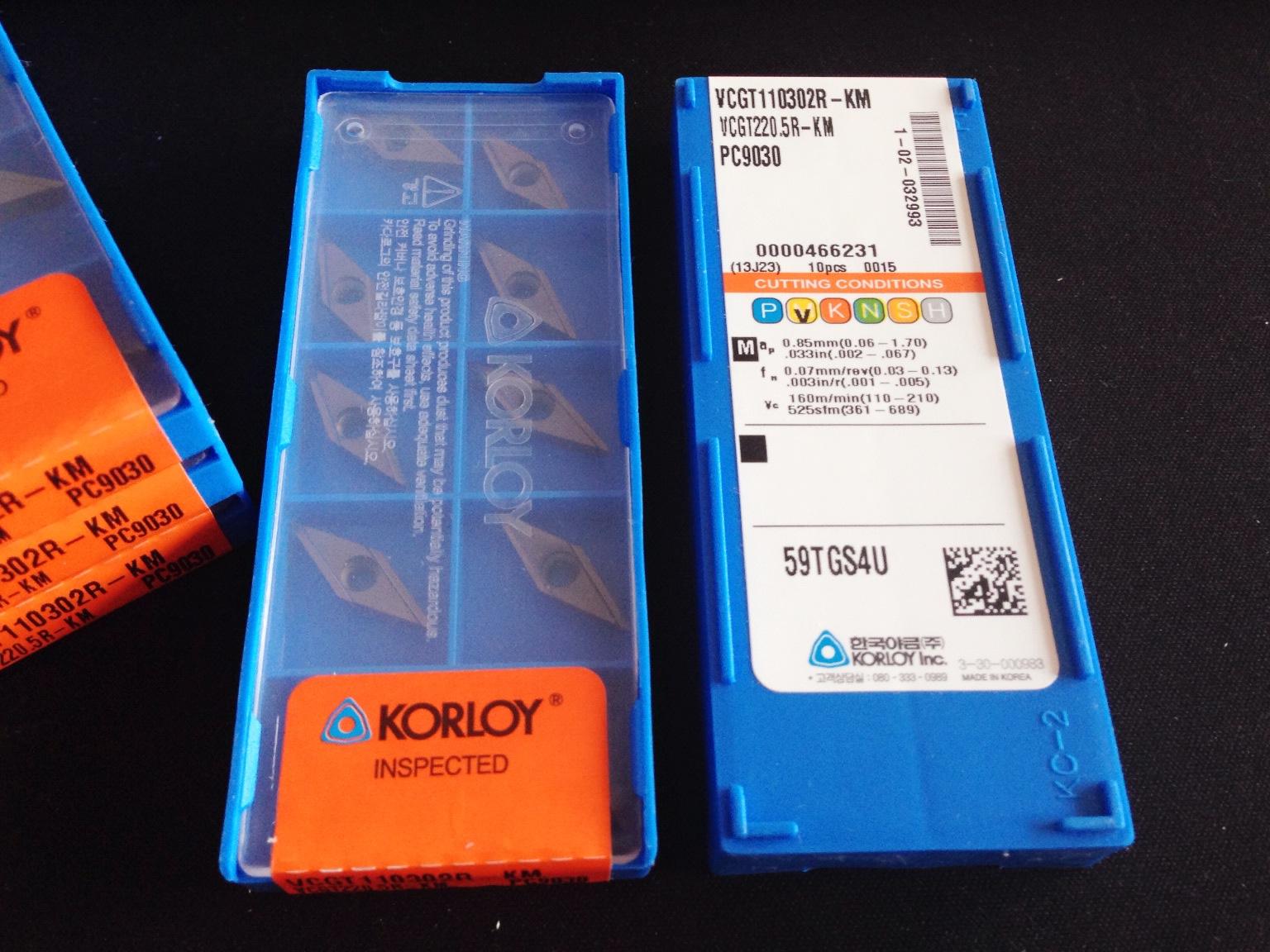 克劳伊KORLOY 数控刀片 VCGT110302R-KM PC9030订购