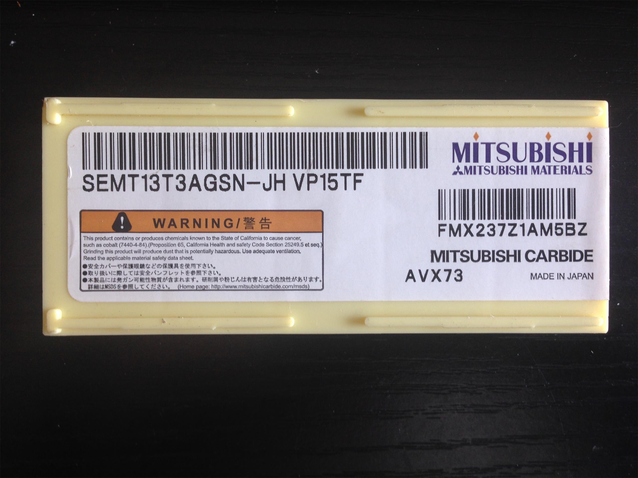 三菱MITSUBISHI 数控刀片 SEMT13T3AGSN-JH VP15TF