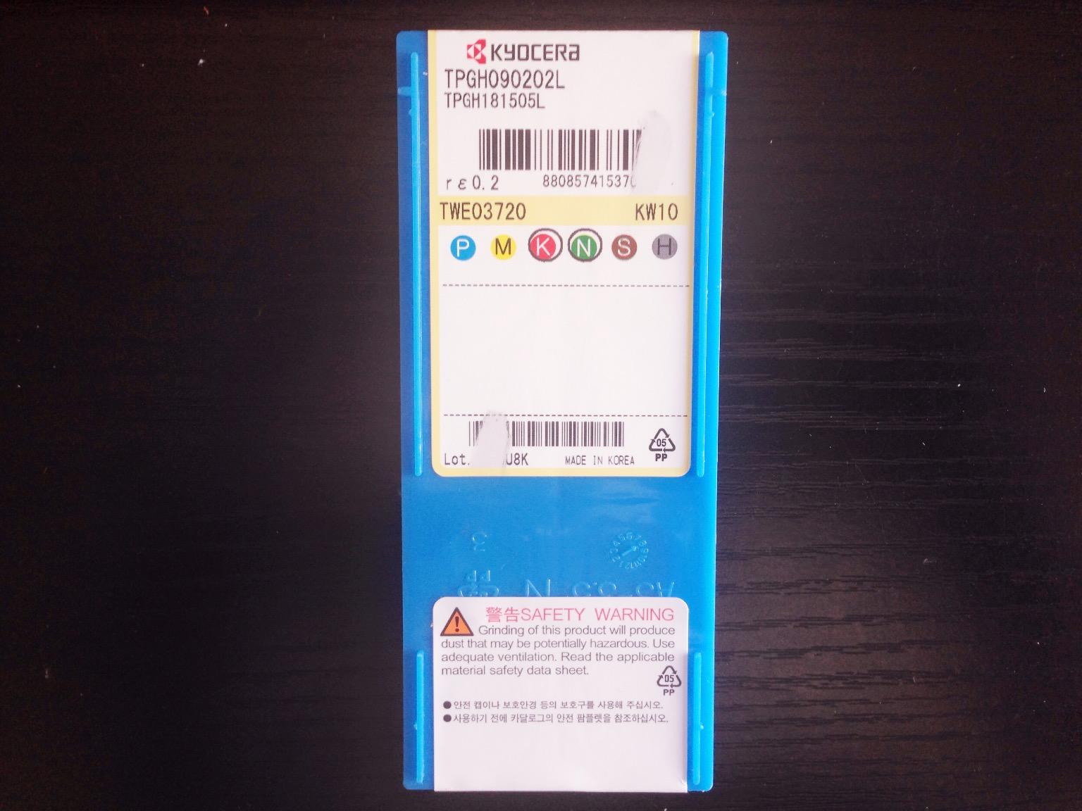 日本京瓷KYOCERA 数控刀片 TPGH090202L KW10