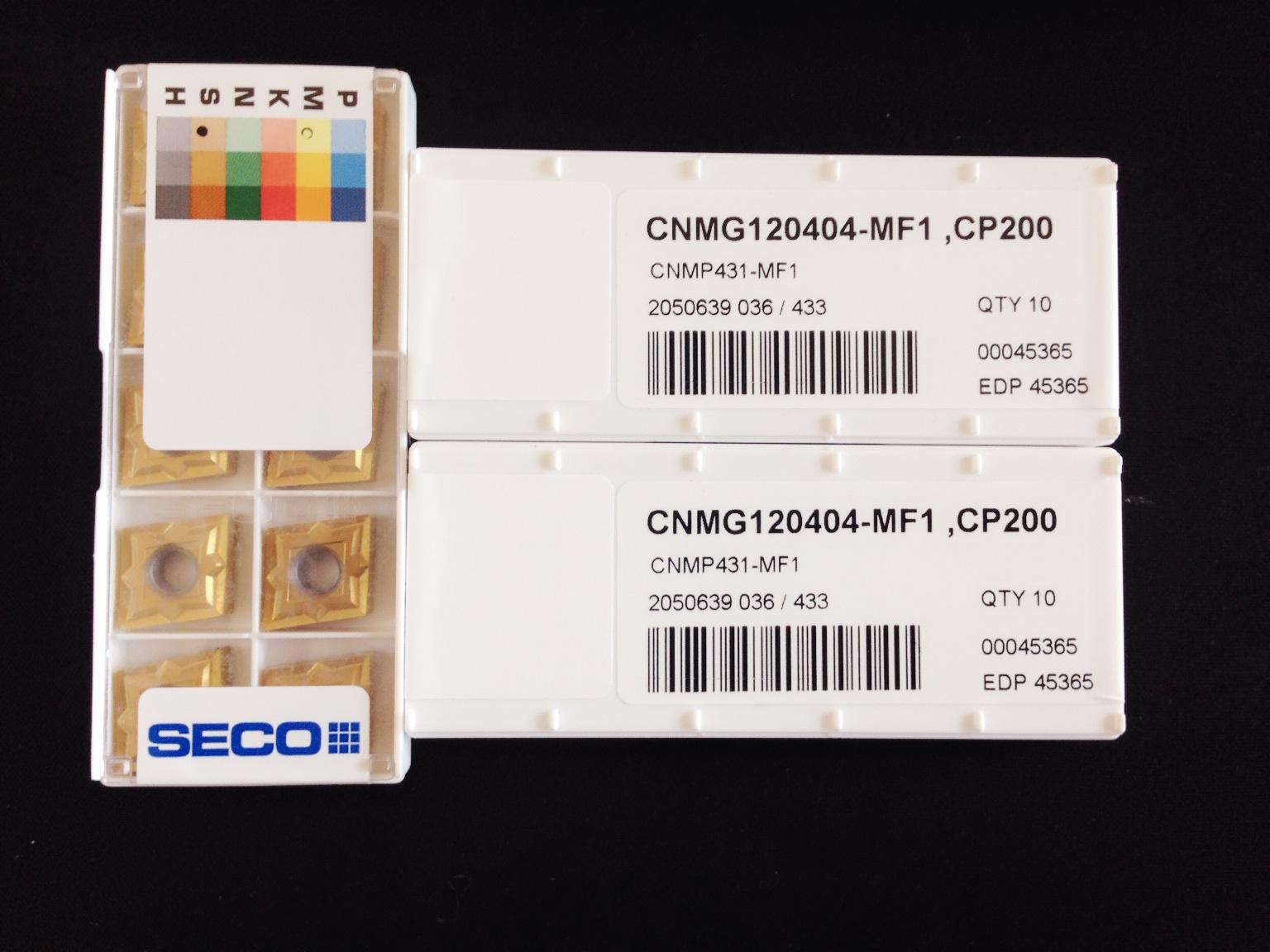 瑞典山高SECO 数控刀片CNMG120404-MF1 CP200
