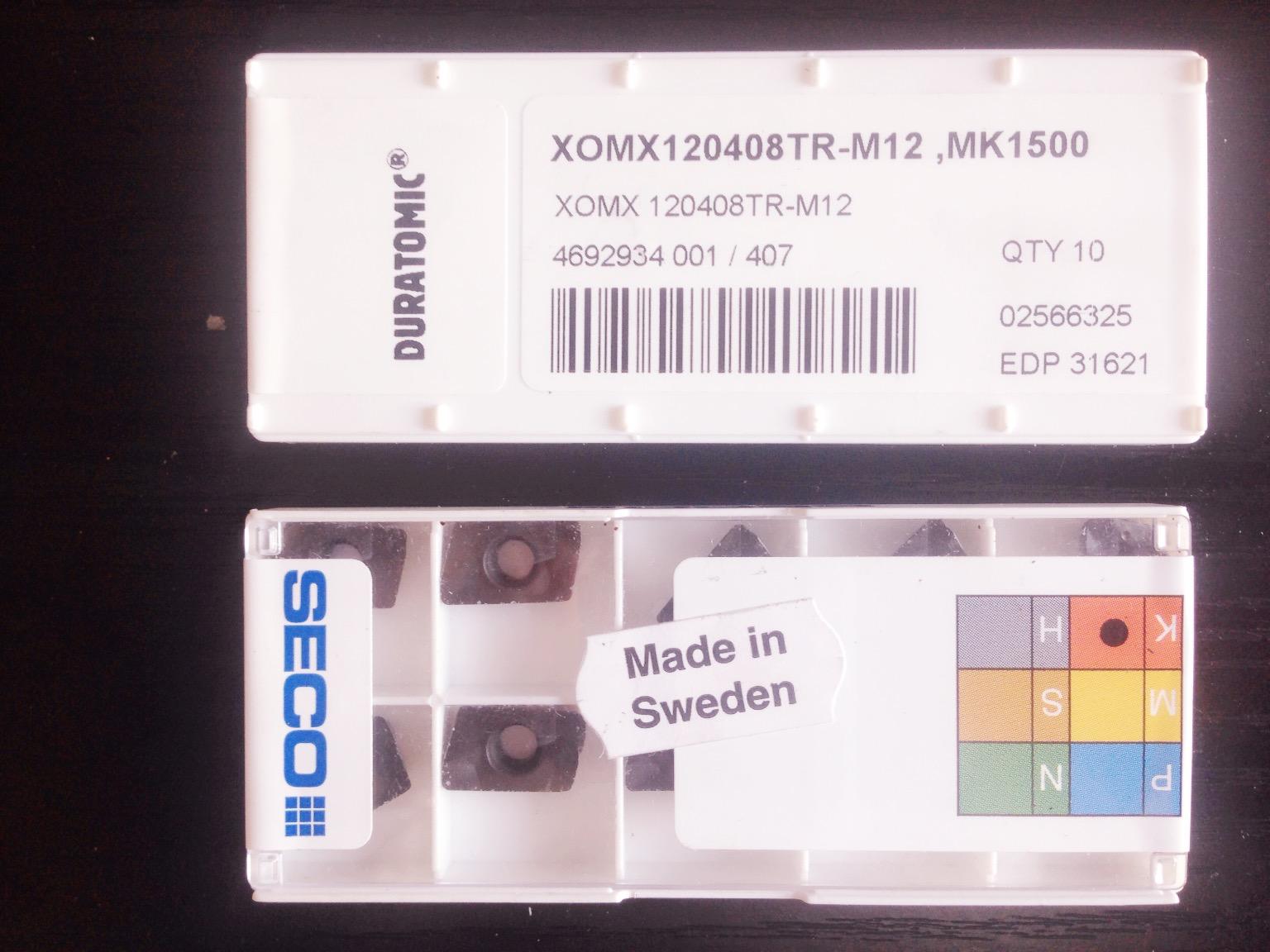 山高SECO 数控刀片 XOMX120408TR-M12 MK1500