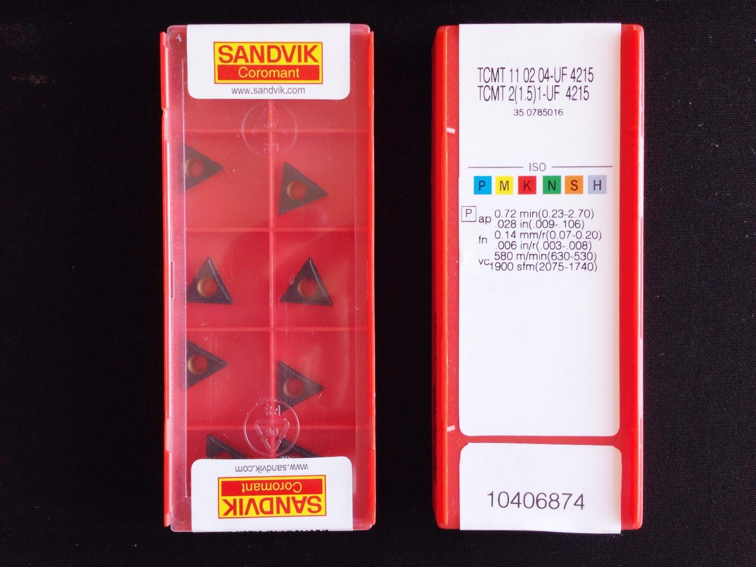 山特维克SANDVIK 数控刀片TCMT110204-UF 4215